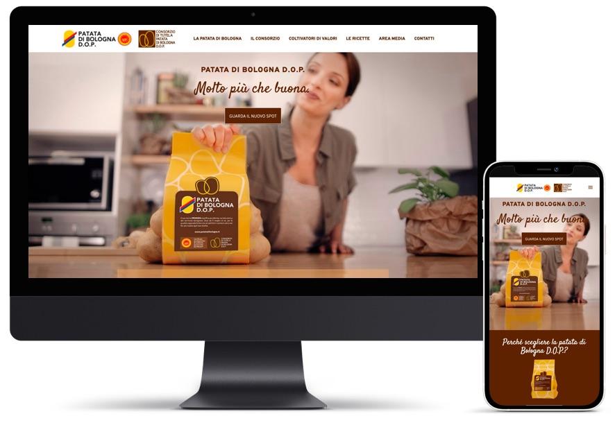Schermata home page sito Patata di bologna DOP